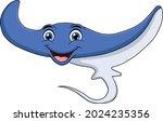 cute stingray cartoon vector...   Shutterstock .eps vector #2024235356