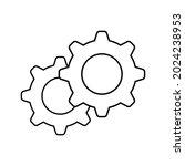 setting gear vector icon design ...   Shutterstock .eps vector #2024238953