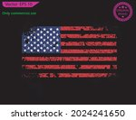 red usa flag. distressed... | Shutterstock .eps vector #2024241650