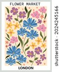 Colorful Hand Drawn Wildflowers ...