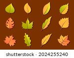 autumn leaves or fall foliage... | Shutterstock .eps vector #2024255240