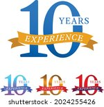 10 years experience label with... | Shutterstock .eps vector #2024255426