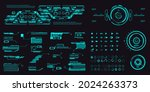 futuristic set of elements for...