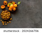 Ripe Apricots In Bowl With...