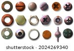 realistic old rusty screw and... | Shutterstock .eps vector #2024269340