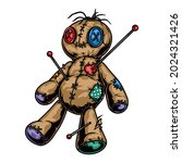 colorful voodoo doll with... | Shutterstock .eps vector #2024321426