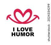 i love humor logo vector... | Shutterstock .eps vector #2024334299