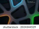 abstract dark texture dimension ... | Shutterstock .eps vector #2024344529