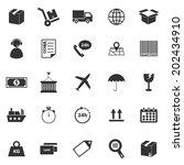 logistics icons on white... | Shutterstock .eps vector #202434910