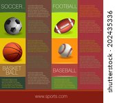 sports info graphic design | Shutterstock .eps vector #202435336