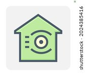 home security system and... | Shutterstock .eps vector #2024385416