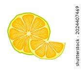 lemon slice icon isolated on... | Shutterstock .eps vector #2024407469