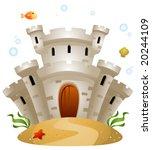 underwater castle   vector | Shutterstock .eps vector #20244109