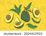 Avocado Fruit Design Vector ...