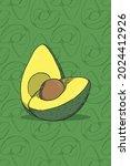 Avocado Fruit Design Vector....