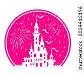 silhouette of princess castle...   Shutterstock .eps vector #2024413196