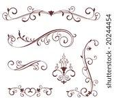 vectorized scroll design | Shutterstock .eps vector #20244454