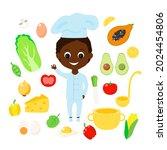 seth cook  vegetables  fruits... | Shutterstock .eps vector #2024454806