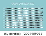 2022 moon calendar.... | Shutterstock .eps vector #2024459096