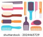 Cartoon Hairbrushes And...
