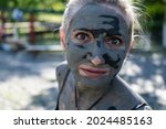 a woman in a source of hydrogen ...   Shutterstock . vector #2024485163