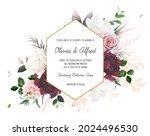 dusty pink rose  hydrangea ... | Shutterstock .eps vector #2024496530