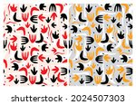 cute abstract geometric vector...   Shutterstock .eps vector #2024507303