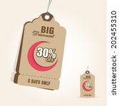 offer and discount sale tags in ... | Shutterstock .eps vector #202455310