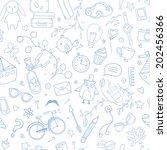 cute traveling pattern....   Shutterstock .eps vector #202456366