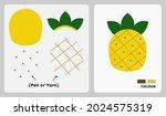 pineapple pattern for kids...   Shutterstock .eps vector #2024575319