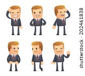 set of advisor character in... | Shutterstock .eps vector #202461838