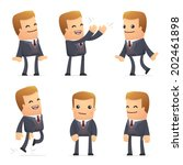 set of advisor character in... | Shutterstock .eps vector #202461898