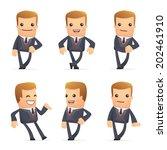 set of advisor character in... | Shutterstock .eps vector #202461910