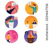 kids of general election... | Shutterstock .eps vector #2024667536