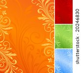vector floral backgrounds.   Shutterstock .eps vector #20246830