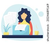 writer. content author. the...   Shutterstock .eps vector #2024689169