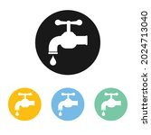 tap water icon set. vector...   Shutterstock .eps vector #2024713040