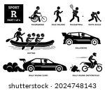 sport games alphabet r vector... | Shutterstock .eps vector #2024748143