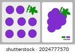 grape pattern for kids crafts...   Shutterstock .eps vector #2024777570