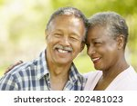 senior  couple romantic portrait | Shutterstock . vector #202481023