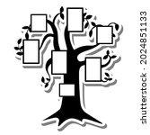 black silhouette shadow tree... | Shutterstock .eps vector #2024851133