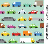 pixel art traffic seamless... | Shutterstock .eps vector #202488859