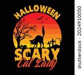 Halloween Scary Cat Lady  ...