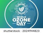 world ozone day. september 16.... | Shutterstock .eps vector #2024944823