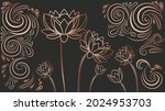 luxury wallpaper with flowers.... | Shutterstock .eps vector #2024953703