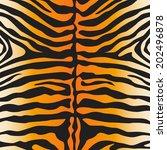 vector tiger skin print | Shutterstock .eps vector #202496878
