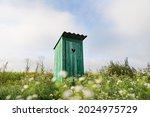 Vintage Toilet. An Outdoor...