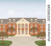 college building  | Shutterstock .eps vector #202500268