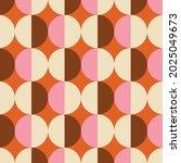 70s retro seamless pattern in... | Shutterstock .eps vector #2025049673