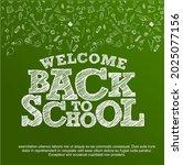 welcome back to school vector... | Shutterstock .eps vector #2025077156